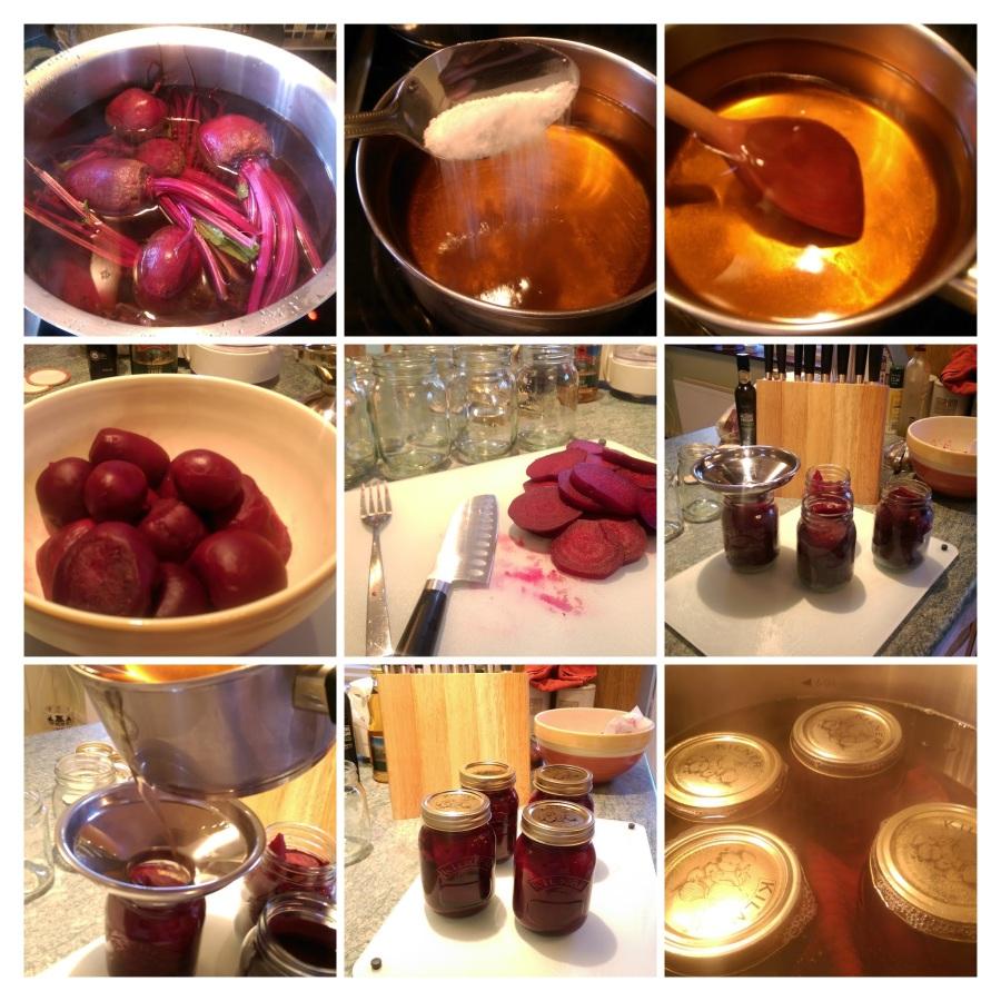 preserving the beets in cider vinegar...