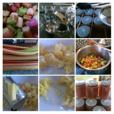 Jamming, Jamming, Rhubarb & Ginger Jamming